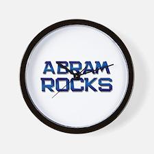 abram rocks Wall Clock