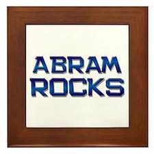 abram rocks Framed Tile