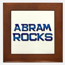 abram rocks Framed Tile