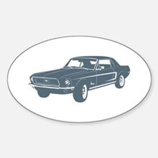 1968 Ford Mustang Coupe Oval Decal