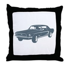 1968 Ford Mustang Coupe Throw Pillow