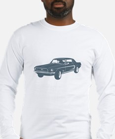 1968 Ford Mustang Coupe Long Sleeve T-Shirt