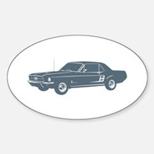 1967 Ford Mustang Coupe Oval Decal