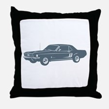 1967 Ford Mustang Coupe Throw Pillow