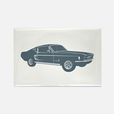 1967 Ford Mustang Fastback Rectangle Magnet