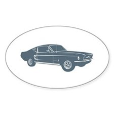 1967 Ford Mustang Fastback Oval Decal