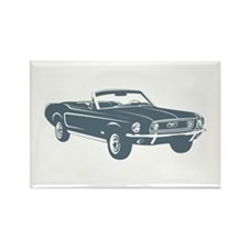 1967 Ford Mustang Convertible Rectangle Magnet