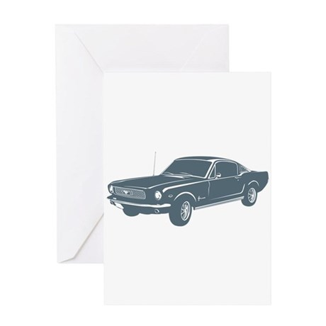1966 Ford Mustang Fastback Greeting Card