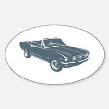 1966 Ford Mustang Convertible Oval Decal