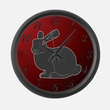 Crimson Death Bunny (w/numbers) Large Wall Clock