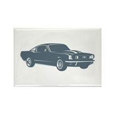 1965 Ford Mustang Fastback Rectangle Magnet