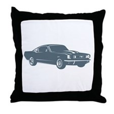 1965 Ford Mustang Fastback Throw Pillow