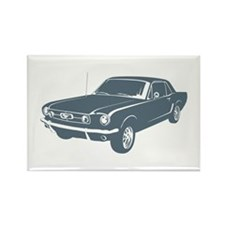 1965 Ford Mustang Coupe Rectangle Magnet