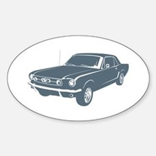 1965 Ford Mustang Coupe Oval Decal