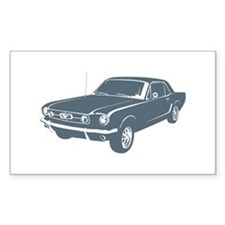 1965 Ford Mustang Coupe Rectangle Decal