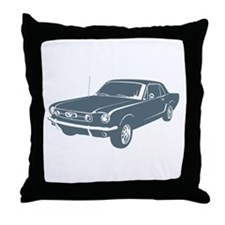 1965 Ford Mustang Coupe Throw Pillow