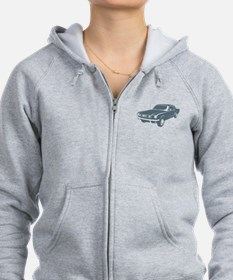 1965 Ford Mustang Coupe Zip Hoodie