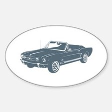 1965 Ford Mustang Convertible Oval Decal