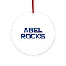abel rocks Ornament (Round)