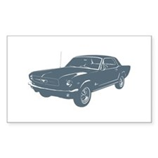 1964 Ford Mustang Coupe Rectangle Decal