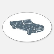 1964 Ford Mustang Convertible Oval Decal