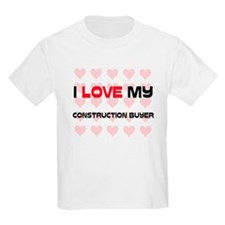 I Love My Construction Buyer T-Shirt