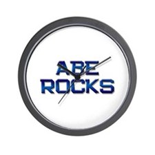 abe rocks Wall Clock