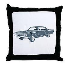 1969 Plymouth Roadrunner Throw Pillow
