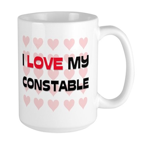 I Love My Constable Large Mug