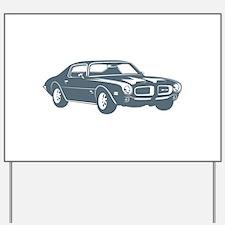 1970 Pontiac Firebird 400 Ram Yard Sign