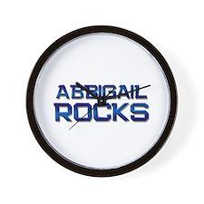 abbigail rocks Wall Clock