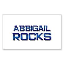 abbigail rocks Rectangle Decal