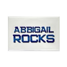 abbigail rocks Rectangle Magnet