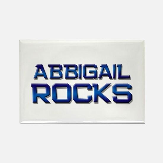 abbigail rocks Rectangle Magnet