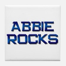abbie rocks Tile Coaster