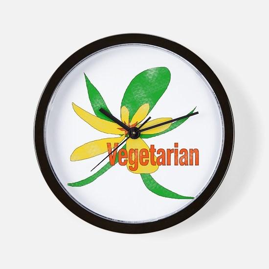 Vegetarian Flower Wall Clock