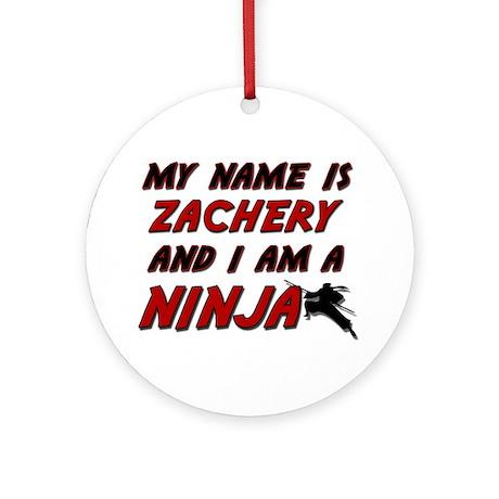 my name is zachery and i am a ninja Ornament (Roun