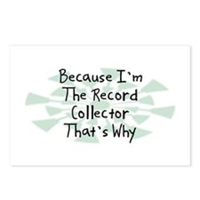 Because Record Collector Postcards (Package of 8)