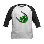 Lucky Irish Kids Baseball Jersey Shamrock Art