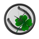 St. Patrick's Lucky Large Wall Clock