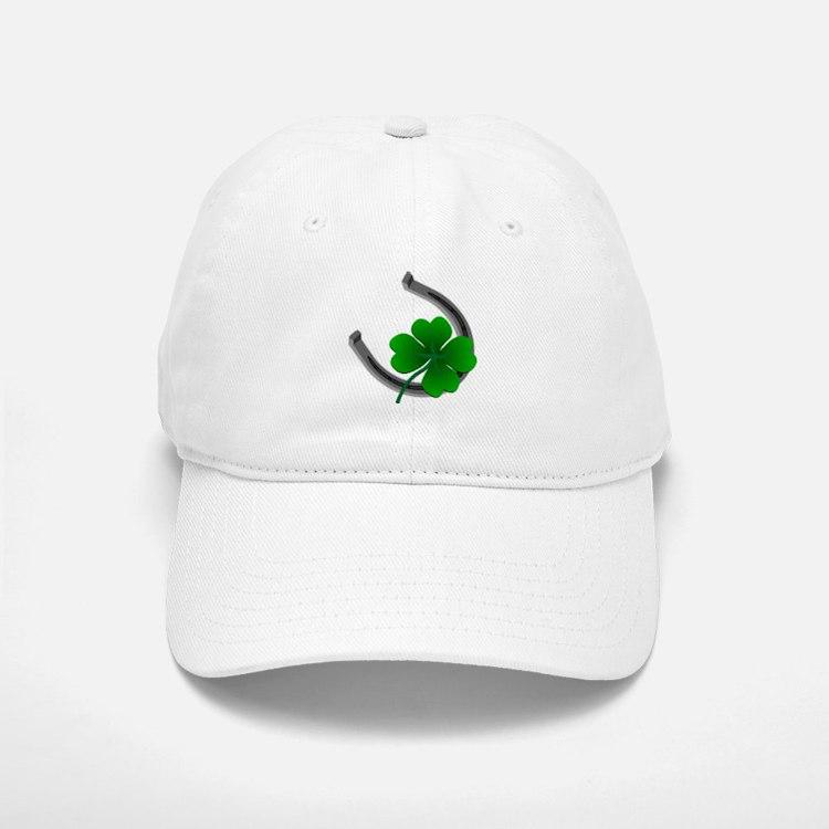 St. Patrick's Baseball Baseball Cap Lucky Horseshoe 4 Leaf Clover