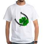 St. Patrick's Lucky White T-Shirt