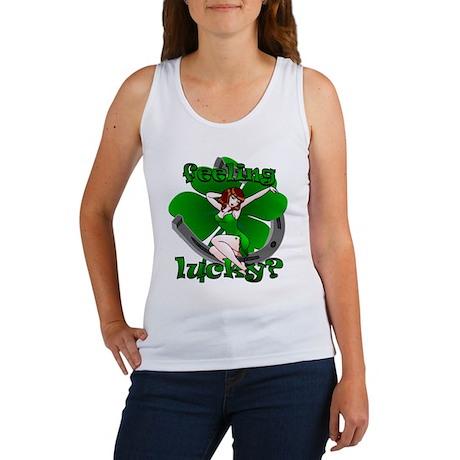 Sexy Irish Pinup Girl Women's Tank Top