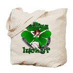 St. Patrick's Tote Bag Lucky Irish Pin Up Girl