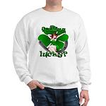 Sexy Irish Pinup Girl Sweatshirt