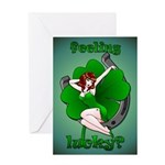 Lucky Irish Greeting Card Sexy Pinup Girl Cards