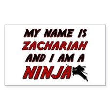 my name is zachariah and i am a ninja Decal