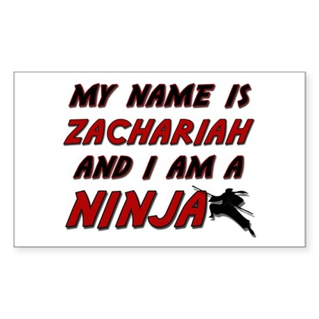 my name is zachariah and i am a ninja Sticker (Rec