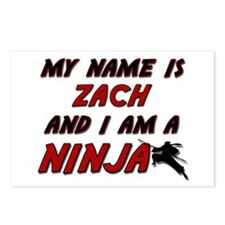 my name is zach and i am a ninja Postcards (Packag