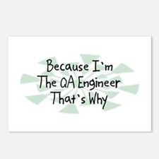 Because QA Engineer Postcards (Package of 8)